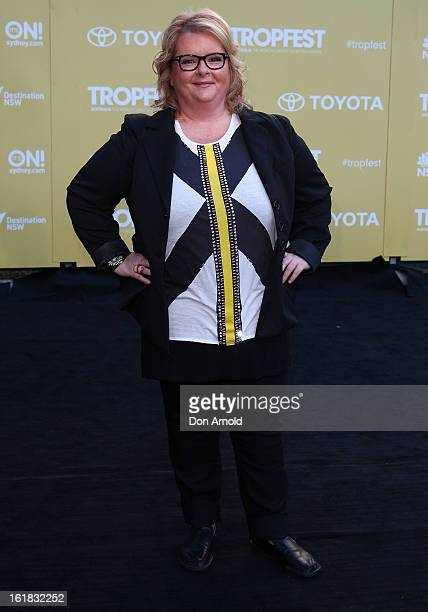 Magda Szubanski arrives for Tropfest 2013 Short Film Festival at The Domain on February 17 2013 in Sydney Australia
