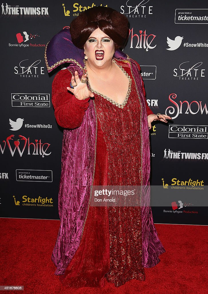 <a gi-track='captionPersonalityLinkClicked' href=/galleries/search?phrase=Magda+Szubanski&family=editorial&specificpeople=243053 ng-click='$event.stopPropagation()'>Magda Szubanski</a> attends the media call for Snow White Winter Family Musical at the State Theatre on July 4, 2014 in Sydney, Australia.