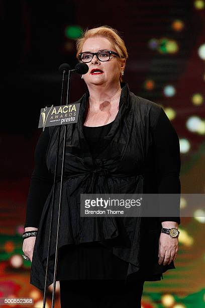 Magda Szubanski during the 5th AACTA Awards Presented by Presto at The Star on December 9 2015 in Sydney Australia