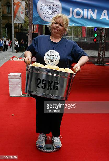 Magda Szubanski launches 'Australia's Greatest Weight Loss Challenge' at Martin Place on February 8 2010 in Sydney Australia The challenge by weight...