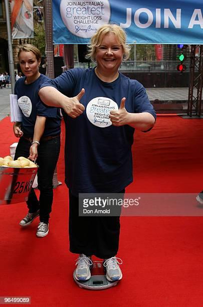 Magda Szubanski launches 'Australia's Greatest Weight Loss Challenge' at Martin Place on February 8 2010 in Sydney Australia The challenge by weight...