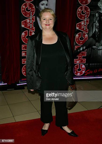 Magda Szubanski poses at the opening night for the new stage production of the musical 'Chicago' at Lyric Theatre Star City on May 17 2009 in Sydney...