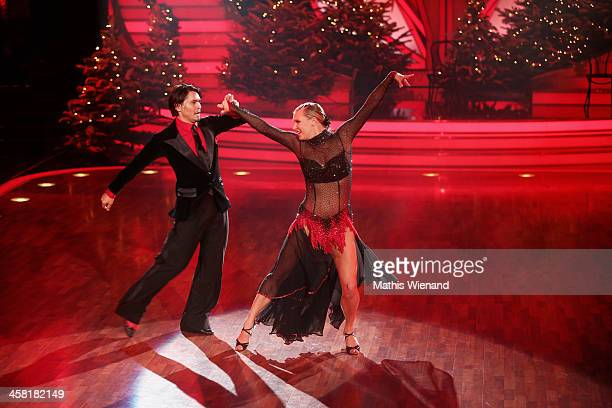 Magdalena Brzeska and Erich Klann attend the 'Let's Dance Let's Christmas' Show on December 20 2013 in Cologne Germany