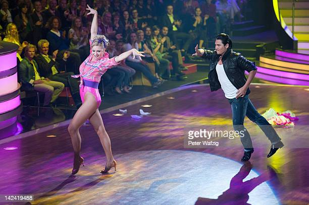 Magdalena Brzeska and Erich Klann perform during 'Let's Dance' 4th Show at Coloneum on April 04 2012 in Cologne Germany