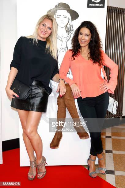 Magdalena Brzeska and Mariella Ahrens attend the Deichmann Shoe Step of the year award at Curio Haus on May 16 2017 in Hamburg Germany