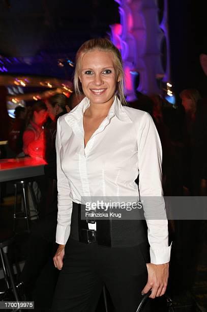 Magdalena Brzeska at 'Fly Into The Sunshine' Air Berlin media meeting in Hangar 2 In Event Center Tempelhof Airport in Berlin