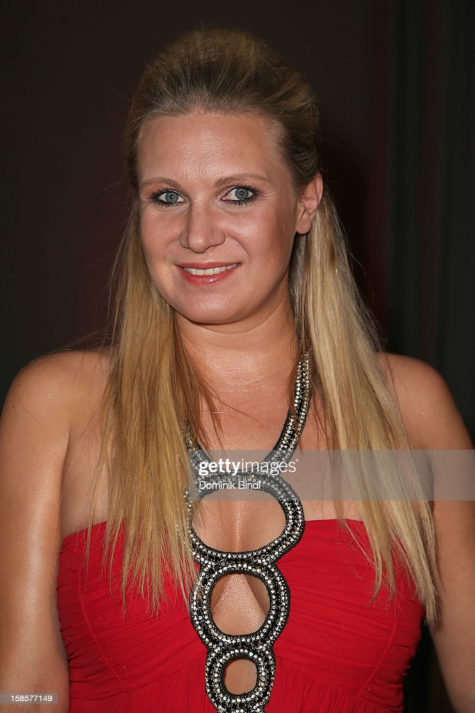 Magdalena Brzeska attends the Natascha & Gernot Gruen 'Golden Red Christmas Night' Party on December 19, 2012 in Munich, Germany.