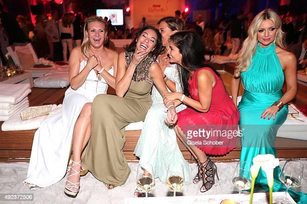 Magdalena Brzeska Lilly Becker Simone Ballack Shermine Shahrivar Rosanna Davison during the Raffaello Summer Day 2015 to celebrate the 25th...