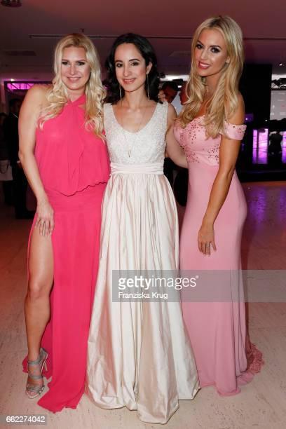 Magdalena Brzeska Stephanie Stumph and Rosanna Davison attend the Gloria Deutscher Kosmetikpreis at Hilton Hotel on March 31 2017 in Duesseldorf...