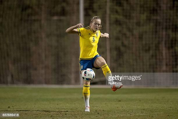 Magdalena Eriksson during the preseason friendly match between national women's Sweden vs England in Pinatar Arena San Pedro del Pinatar Murcia SPAIN...