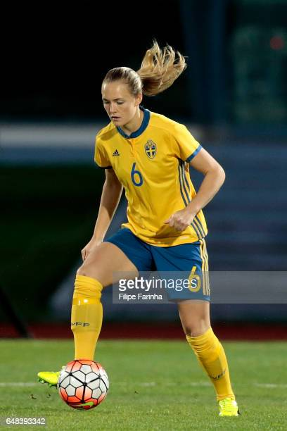 Magdalena Eriksson of Sweden during the Algarve Cup Tournament Match between China W and Sweden W on March 3 2017 in Vila Real de Santo Antonio...