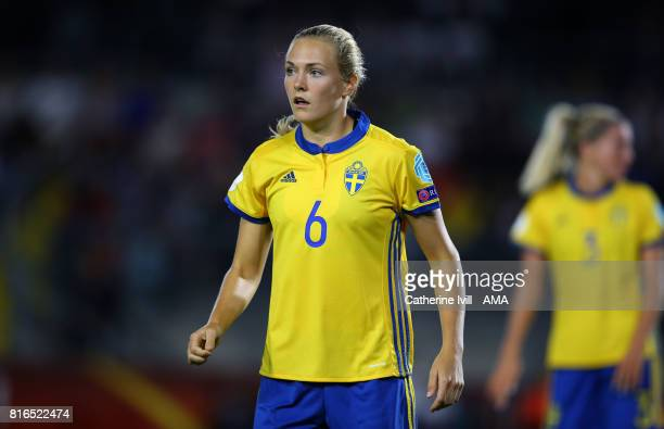Magdalena Eriksson of Sweden Women during the UEFA Women's Euro 2017 Group B match between Germany and Sweden at Rat Verlegh Stadion on July 17 2017...