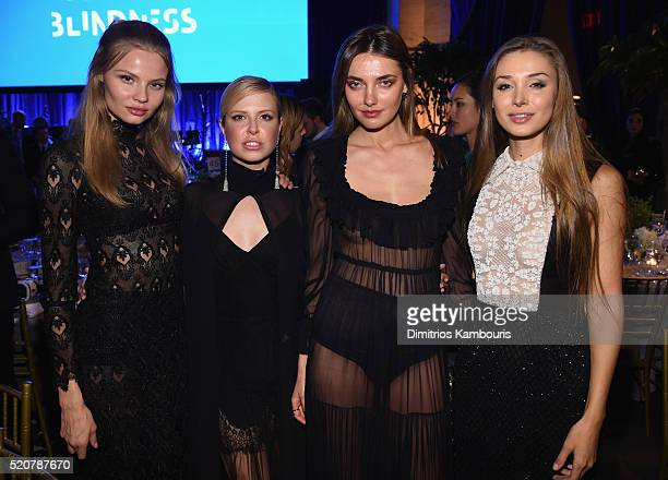 Magdalena Frackowiak Maria Bogdanovich Alina Baikova and Lara Leito attend the Foundation Fighting Blindness World Gala at Cipriani 42nd Street on...