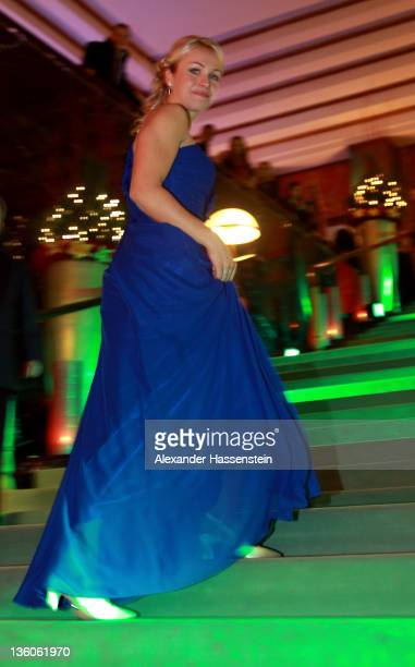 Magdalena Neuner arrives for the 'Athlete of the Year 2011' gala at the Kurhaus BadenBaden on December 18 2011 in BadenBaden Germany