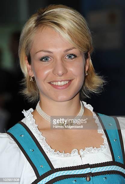 Magdalena Neuner attend the Bavarian Sport Award 2010 at the International Congress Center Munich on July 17 2010 in Munich Germany