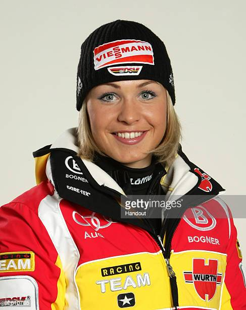Magdalena Neuner poses during a photocall at the German athlete Winter kit preview at the adidas Brand Center on October 28 2009 in Herzogenaurach...
