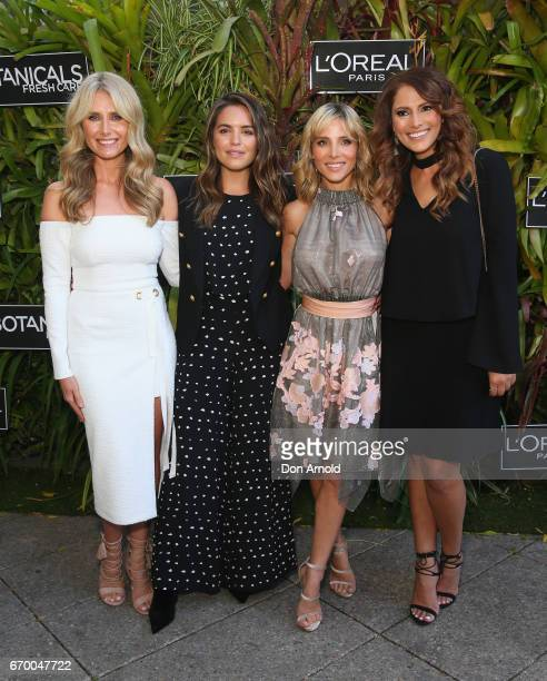 Magdalena Roze Olympia Valance Elsa Pataky and Sally Obermeder attend the Botanicals Fresh Care Ambassador Launch on April 19 2017 in Sydney Australia