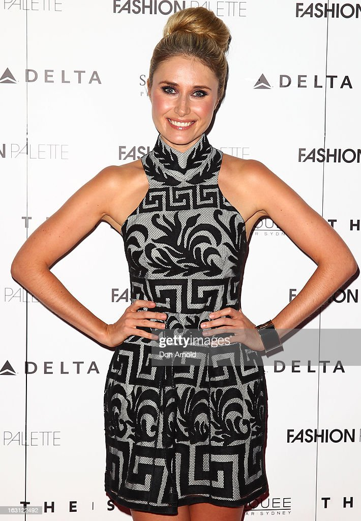 Magdalena Roze poses during the Fashion Palette VIP launch at The Star on March 5, 2013 in Sydney, Australia.