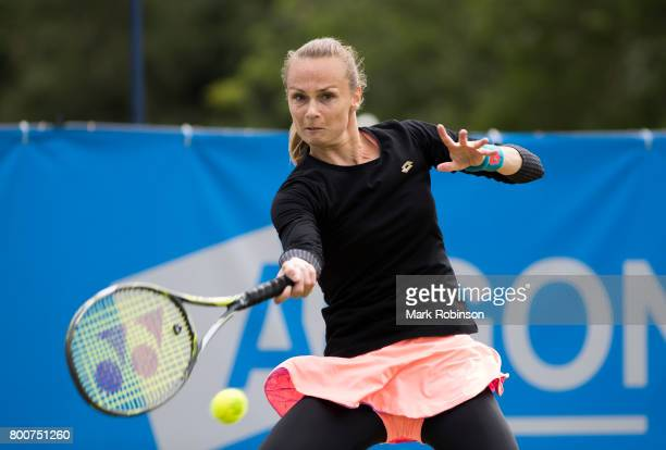Magdalena Rybarikova of Russia during the womens's singles final on June 25 2017 in Ilkley England