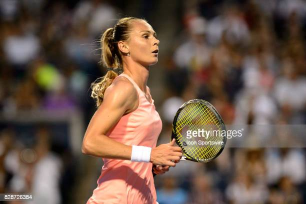 Magdalena Rybarikova of Slovakia SVK reacts after winning a point during her second round match of the 2017 Rogers Cup tennis tournament on August 9...
