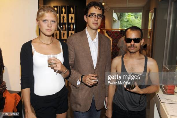Magdalena von Behr JosÈ Enrique Macin and Carlos Soto attend LongHouse Reserve's Summer Gala EXCENTRICA at LongHouse on July 17th 2010 in East...