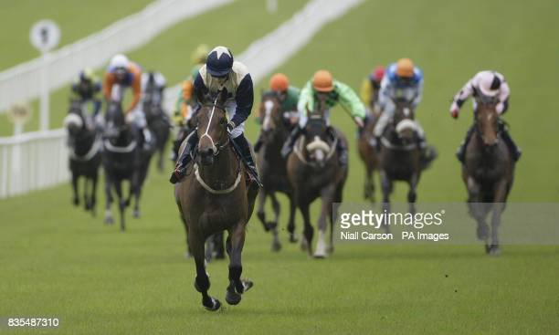 Magen's Star ridden by William Lee goes on to win the Boylesportscom Handicap during the Boylesportscom Irish 2000 Guineas Day at Curragh Racecourse...