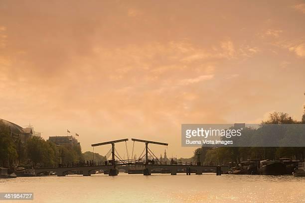 Magere Brug (Skinny Bridge) over Amstel River.
