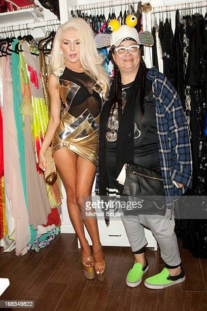 Maggie Barry and Courtney Stodden attend Celebrity Fashion Designer Maggie Barry Street Launch Party For 'M8' at La Maison de Fashion on May 8 2013...