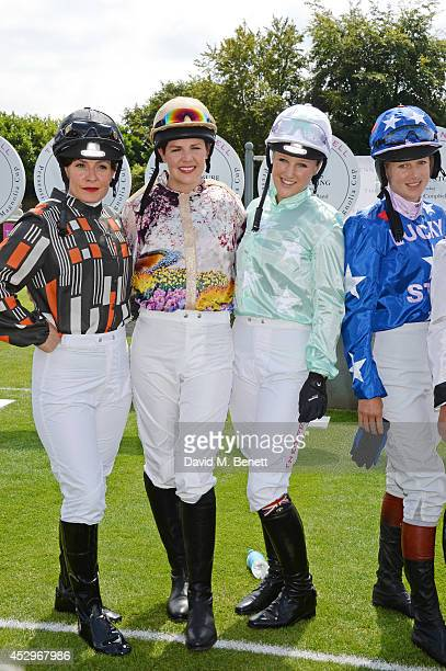 Maggie Buggie Alexis Green Leonora Smee and Philippa Holland attend Glorious Goodwood Ladies Day at Goodwood on July 31 2014 in Chichester England