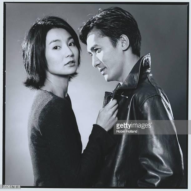 Maggie Cheung and Tony Leung