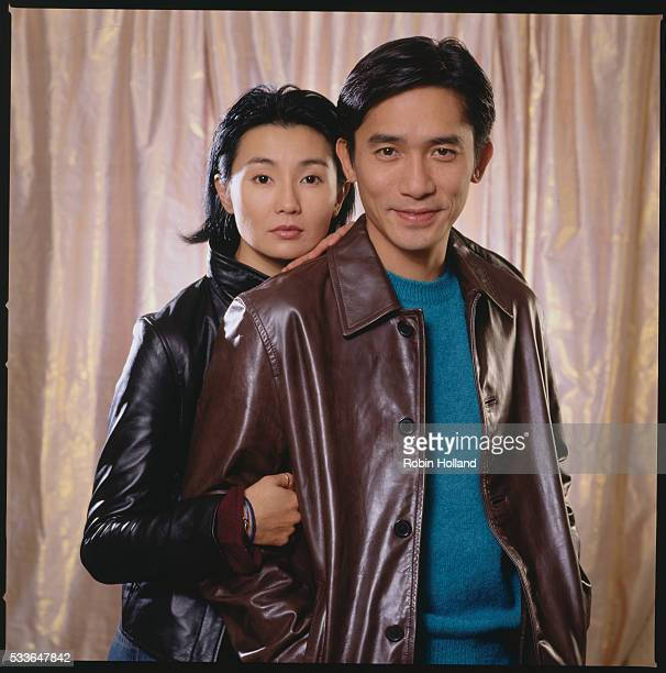 Maggie Cheung and Tony Leung