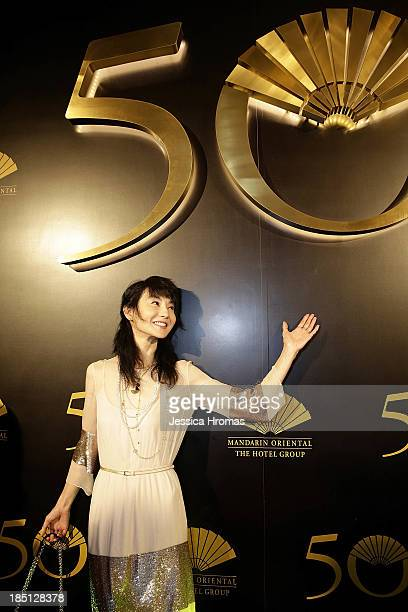 Maggie Cheung attends Mandarin Oriental Hong Kong's 50th Anniversary Gala on October 17 2013 in Hong Kong