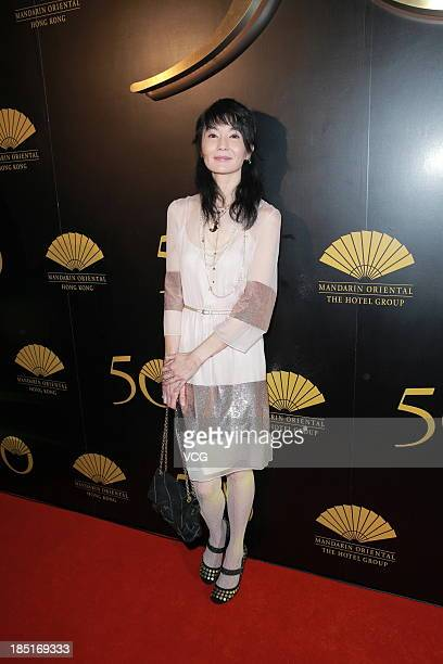 Maggie Cheung attends the 50th anniversary for the Mandarin Oriental Hong Kong on October 17 2013 in Hong Kong China