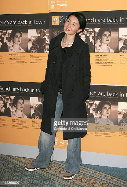 Maggie Cheung during The Renault French Film Season 2005 Press Launch at Institute of Directors in London Great Britain