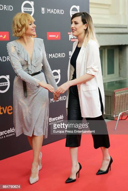 Maggie Civantos and Natalia de Molina attend the 'Platino Awards 2017' presentation at the Madrid City Hall on April 4 2017 in Madrid Spain