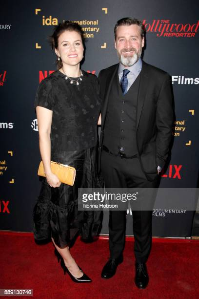 Maggie Contreras and Neil Berkeley at the 33rd Annual IDA Documentary Awards at Paramount Theatre on December 9 2017 in Los Angeles California