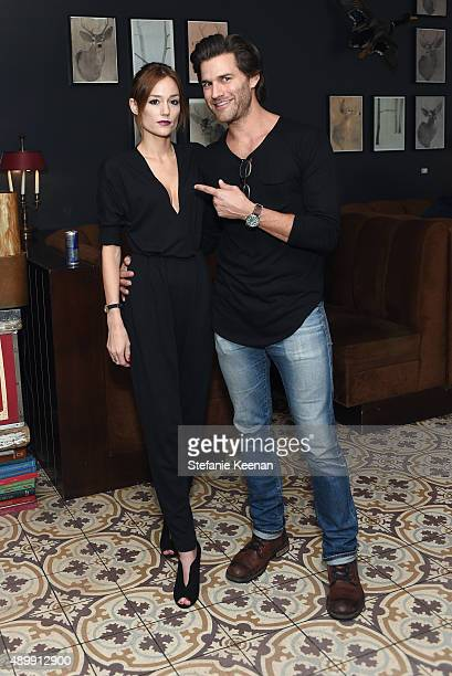 Maggie Day and actor Johnny Whitworth attend MEN'S FITNESS Celebration of The 2015 Game Changers on September 24 2015 in West Hollywood California