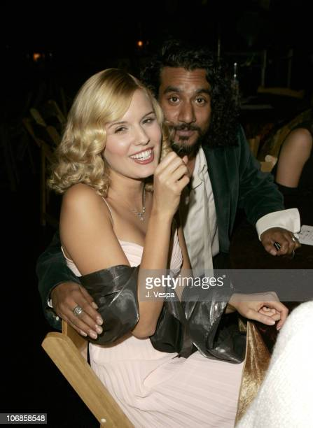 Maggie Grace and Naveen Andrews during Hollywood Life Magazine's 5th Annual Breakthrough of the Year Awards Cocktail Party at Henry Fonda Theatre in...