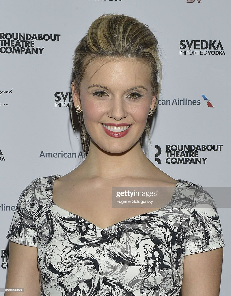 Maggie Grace attends the 2013 Roundabout Theatre Company Spring Gala at Hammerstein Ballroom on March 11, 2013 in New York City.