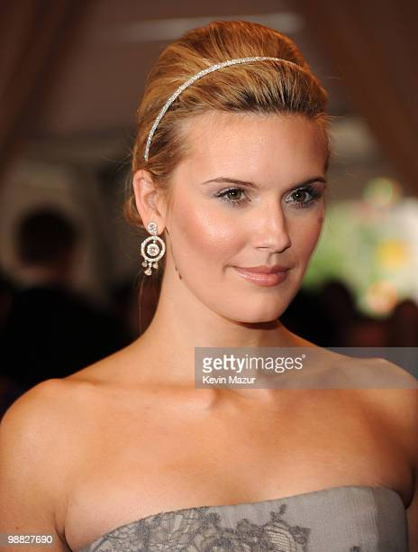 Maggie Grace attends the Costume Institute Gala Benefit to celebrate the opening of the 'American Woman Fashioning a National Identity' exhibition at...