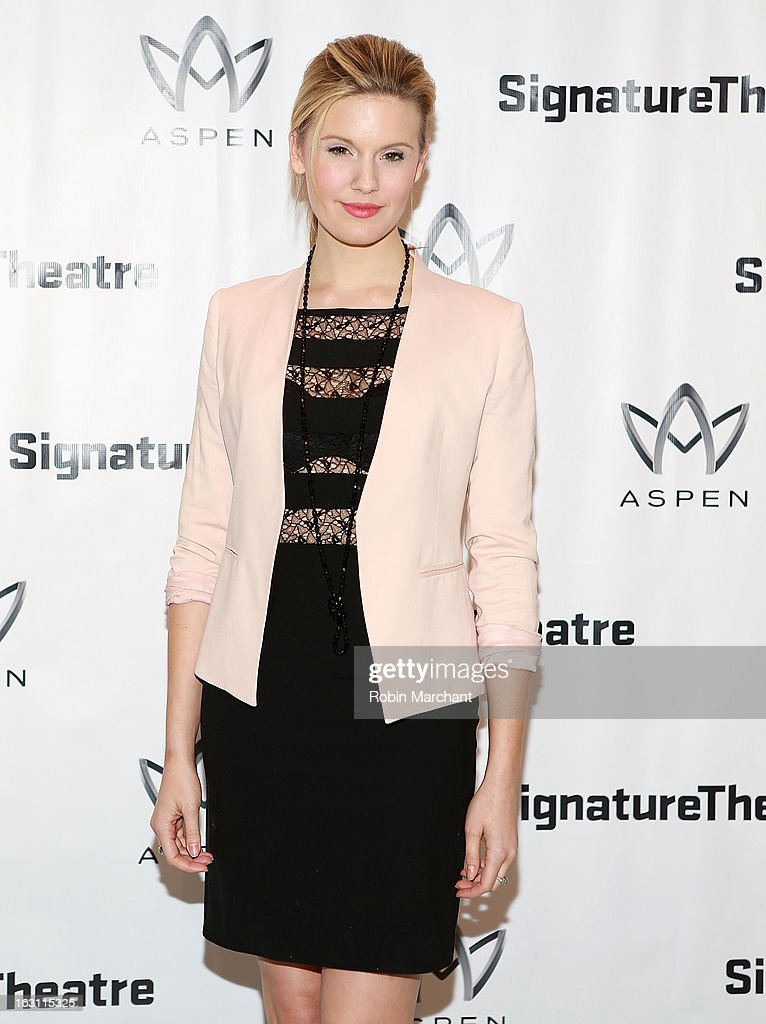Maggie Grace attends the 'Old Hats' Opening Night at Signature Theatre Company's The Pershing Square Signature Center on March 4, 2013 in New York City.