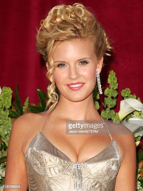Maggie Grace during 57th Annual Primetime Emmy Awards Arrivals at The Shrine in Los Angeles California United States
