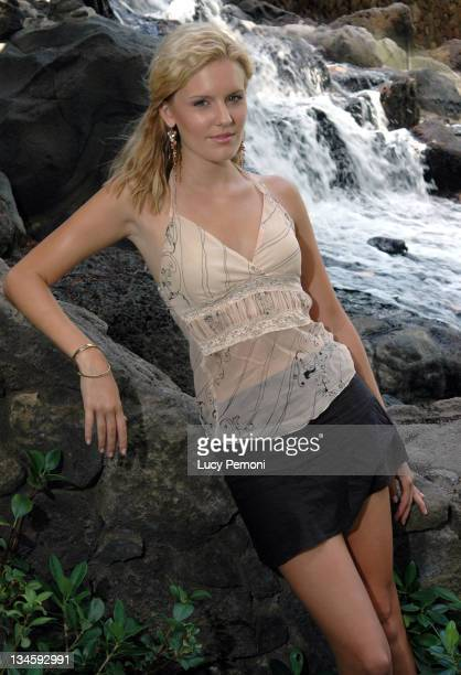 Maggie Grace during Maggie Grace Photocall August 17 2005 in Honolulu Hawaii United States