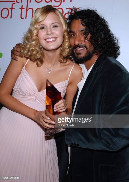 Maggie Grace winner of Hollywood Life Magazine's Breakthrough of the Year award and Naveen Andrews