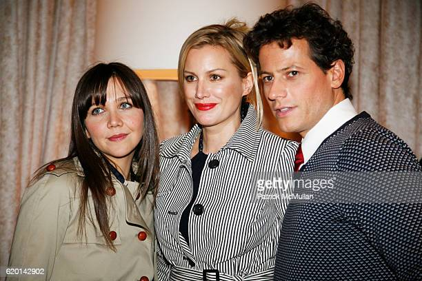 Maggie Gyllenhaal Alice Evans and Ioan Gruffudd attend TOMMY HILFIGER Fall 2008 Fashion Show at Avery Fisher Hall on February 7 2008 in New York City