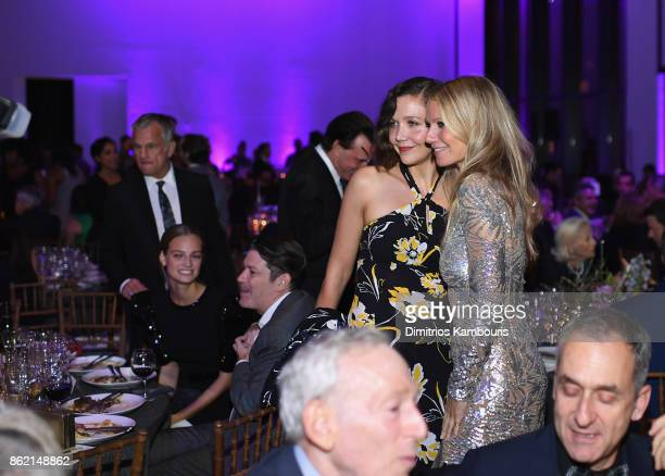 Maggie Gyllenhaal and Gwyneth Paltrow the 11th Annual Golden Heart Awards benefiting God's Love We Deliver on October 16 2017 in New York City
