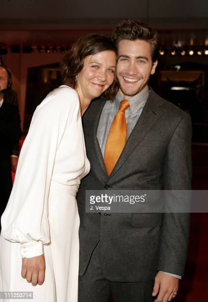 Maggie Gyllenhaal and Jake Gyllenhaal during 2005 Venice Film Festival 'Brokeback Mountain' Premiere at Palazzo del Cinema in Venice Lido Italy