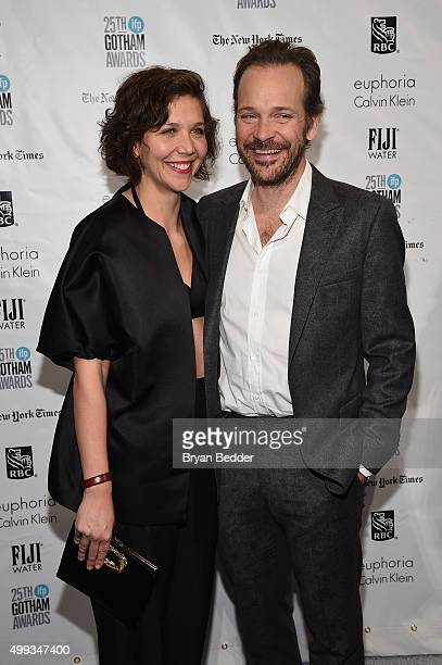 Maggie Gyllenhaal and Peter Sarsgaard attend the 25th IFP Gotham Independent Film Awards cosponsored by FIJI Water at Cipriani Wall Street on...