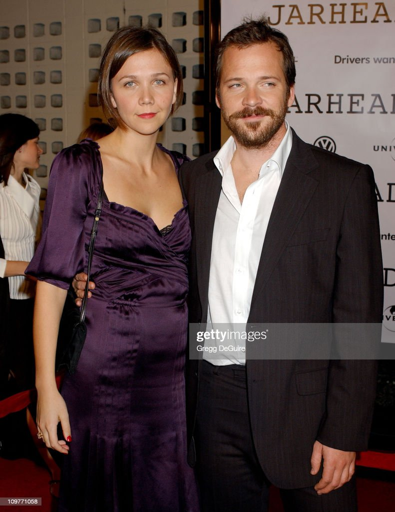 Maggie Gyllenhaal and Peter Sarsgaard during Universal Pictures' 'Jarhead' World Premiere - Arrivals at Arclight Hollywood in Hollywood, California, United States.