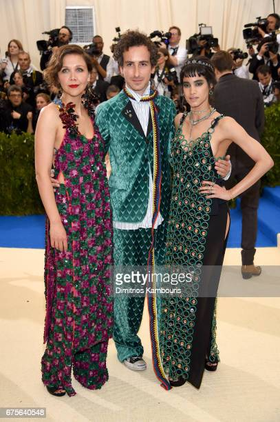 Maggie Gyllenhaal and Sofia Boutella attend the 'Rei Kawakubo/Comme des Garcons Art Of The InBetween' Costume Institute Gala at Metropolitan Museum...